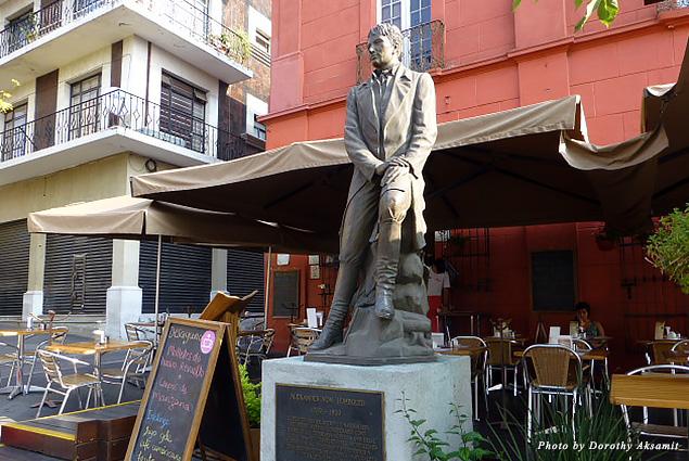Statue of the geographer Alexander von Humboldt