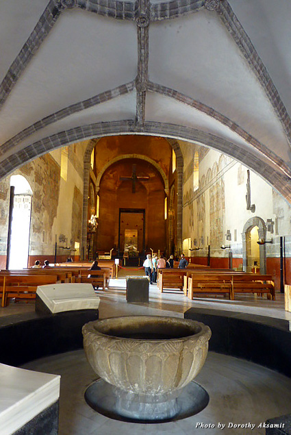 The interior of the cathedral in Cuernavaca