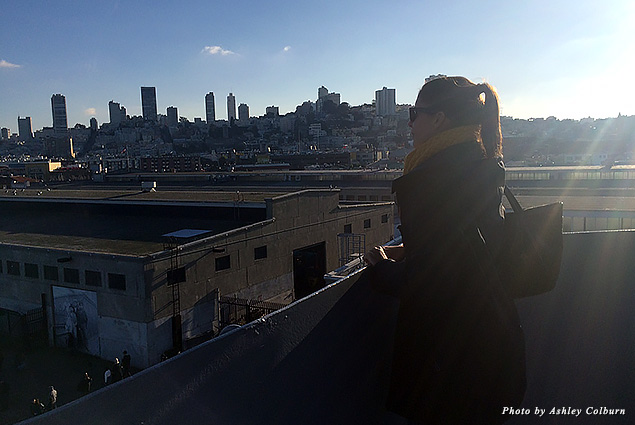 Looking out at the San Francisco skyline
