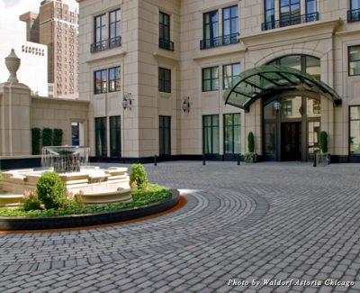 Courtyard at the Waldorf Astoria Chicago Hotel