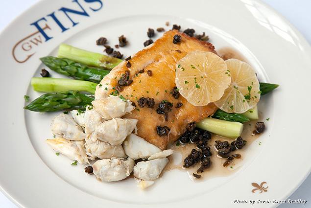 Flounder and lump crab dish at GW Fins