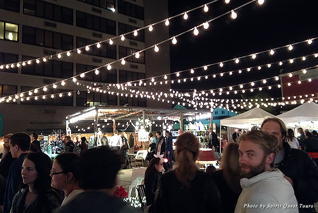 Crowds of people flock to the Frenchmen Street Night Market
