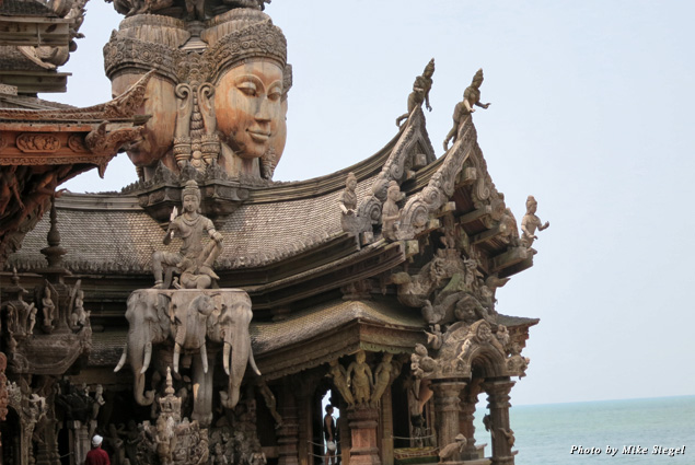 Beautiful detailing on the Sanctuary of Truth temple