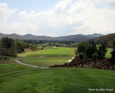 Looking out over St. Andrews 2000 Golf Club in Thailand