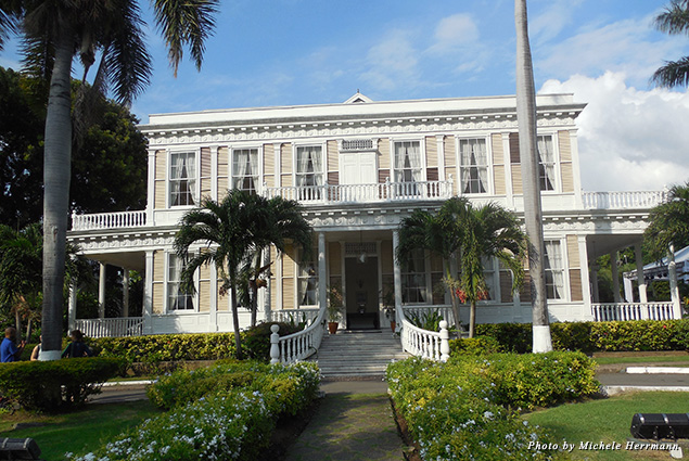 Exterior of National Heritage Site Devon House in Kingston, Jamaica