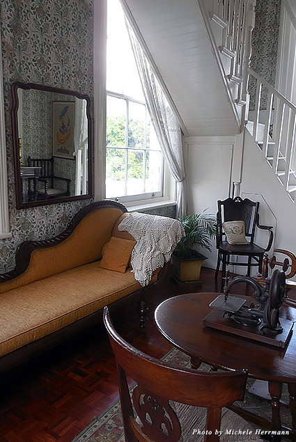 Various furnishings decorate the interior of the Devon House, a Jamaican-Georgian mansion