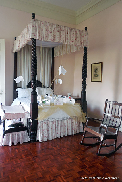 A young lady's room on the upper level of the Devon House