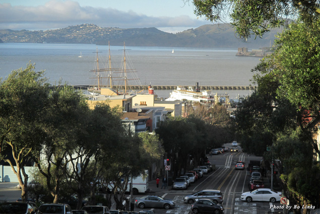The waterfront from the iconic Hyde Street Cable Car