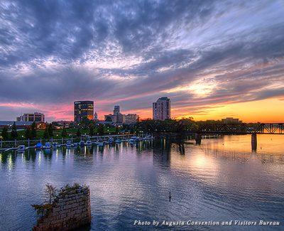 Augusta skyline at sunset