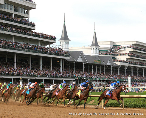 Horses race at Churchill Downs