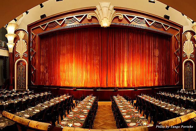 Beautiful venue for dinner and a show at Tango Porteño
