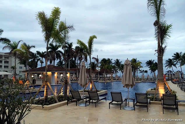 One of the many pools at the Hyatt Zilara and Hyatt Ziva resorts in Montego Bay, Jamaica