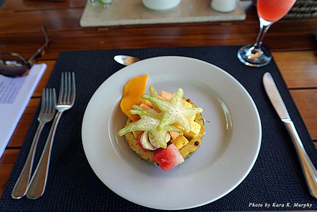 Breakfast fruit at Kura