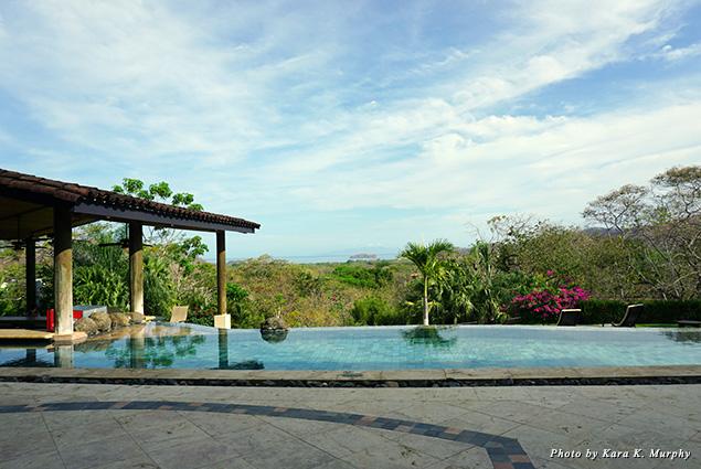 Pool deck at Villa Buena Onda