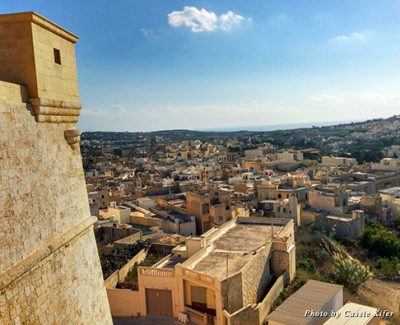 View over the Gozo from the walls of the Citadel