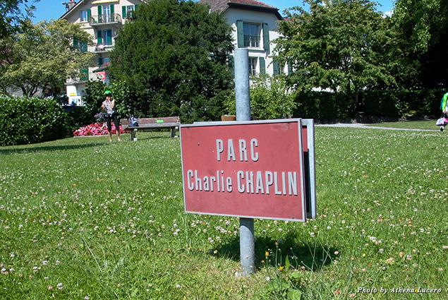 Charlie Chaplain's bench at Parc Charlie Chaplain, Vevey