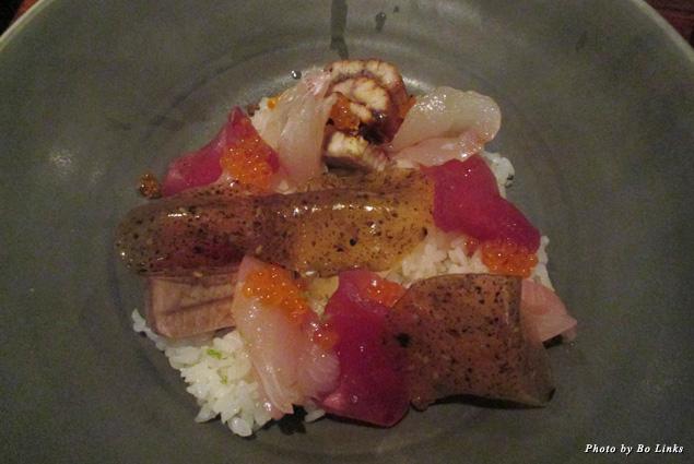 Yummy sashimi at Spoonbar