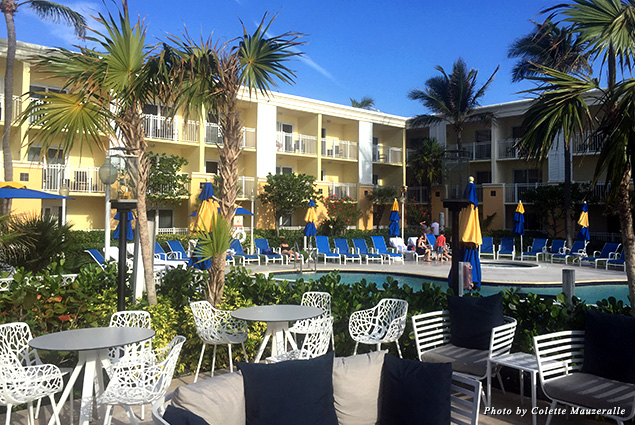 All of the Delray Sands Resorts' rooms face out to the pool or the nearby Atlantic Ocean