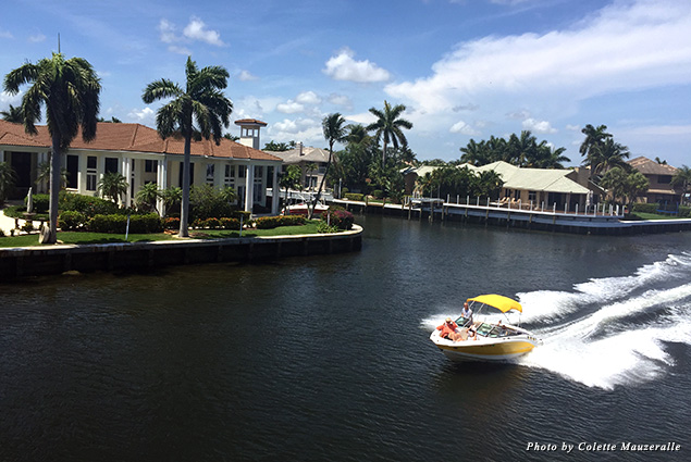 From the top deck of the Lady Atlantic, travelers can take in views of enviable multi-million dollar homes lining the Intracoastal Waterway