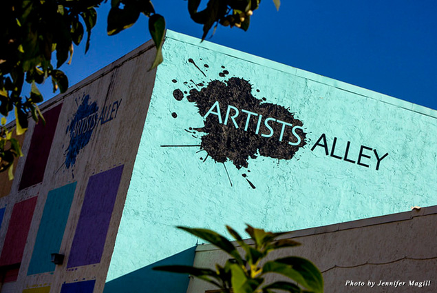 Join Delray Beach's creative crowd at Artists' Alley, a colorful warehouse that local artists have adopted as their own