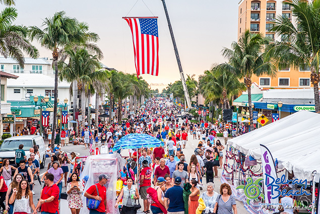 Delray Beach is a social city, with street festivals taking place along Atlantic Avenue throughout the year