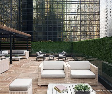 The Grand Club patio at the Grand Hyatt New York