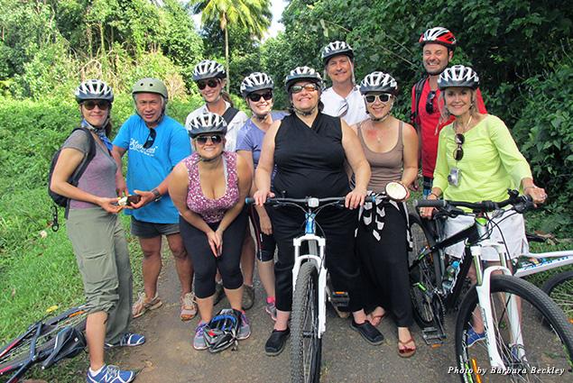 Exploring Rarotonga on the Storytellers Eco Cycle Tour