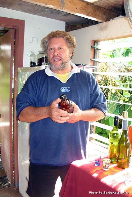 Third generation Cook Island winemaker Framhein Koteka