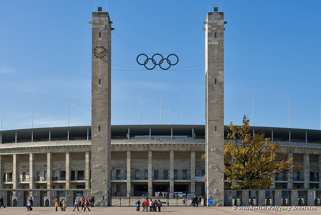 Exterior of Berlin's Olympic Stadium