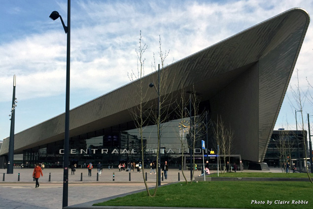 Exterior of Rotterdam's Central Station
