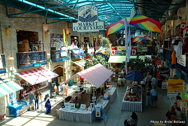 Interior of the Forks Market