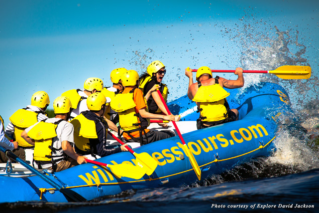 Urban whitewater rafting on the Ottawa River