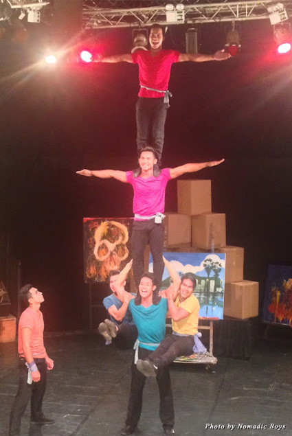 Acrobats in Phare, the Cambodian Circus