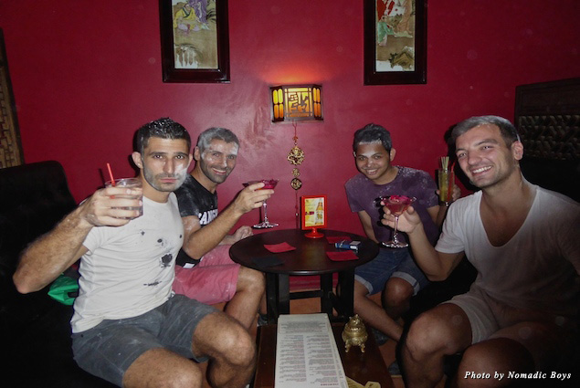 With Stefan and friends at Miss Wong