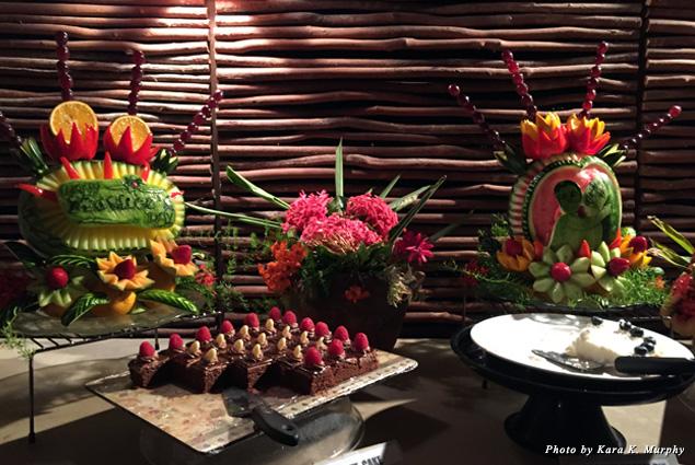 The dessert buffet at Nevis Plantation & Beach Club