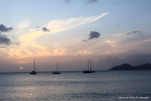 Sunset at Chrishi Beach