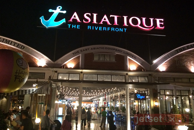 Entry sign for Asiatique the Riverfront, an open-air mall