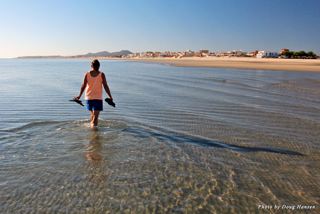 San Felipe has the second biggest tide in North America, which makes for amazing long-distance wading through the water