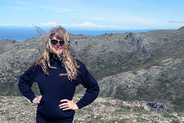 Standing with Denali in the background
