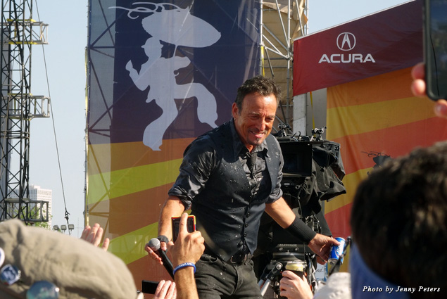 Bruce Springsteen performs at the 2014 New Orleans Jazz and Heritage Festival