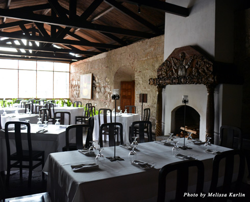 Dining tables at Hotel Casa Santa Domingo