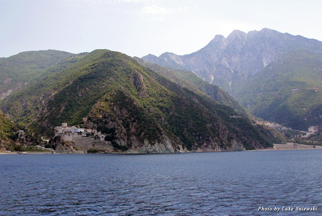 View of Mount Athos from the water