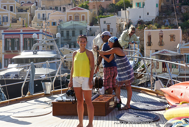 At Symi Harbour in Greece