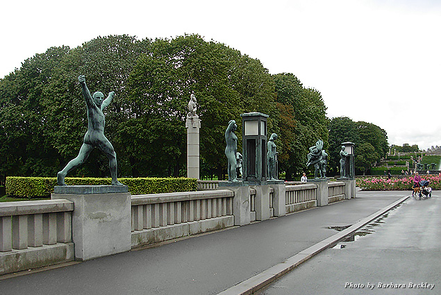 Vigeland Sculpture Park is the world's largest, displaying hundreds of larger-than life works by the Norwegian sculptor