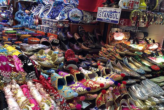 Silver, silk, slippers, ceramics, and souvenirs are plentiful at Grand Bazaar