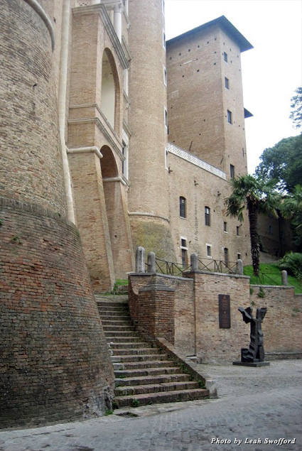 Stairs leading up to a section of the Ducal Palace