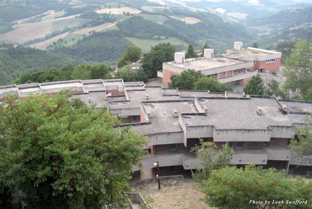 "The University of Urbino ""Carlo Bo"" campus is set among rolling green hills"