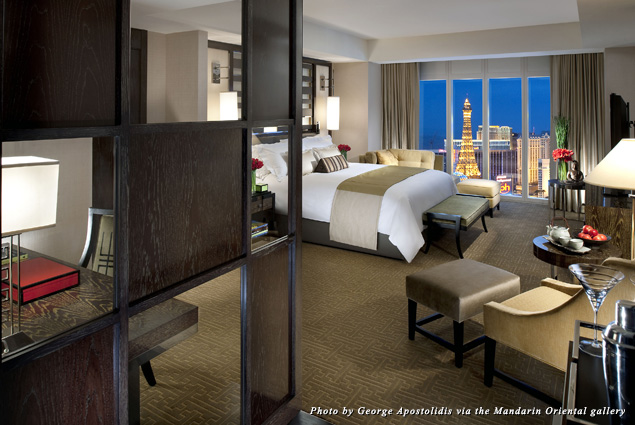 Guest room at the Mandarin Oriental, Las Vegas