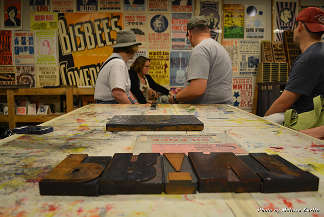 Inside the classroom at Hatch Show Print