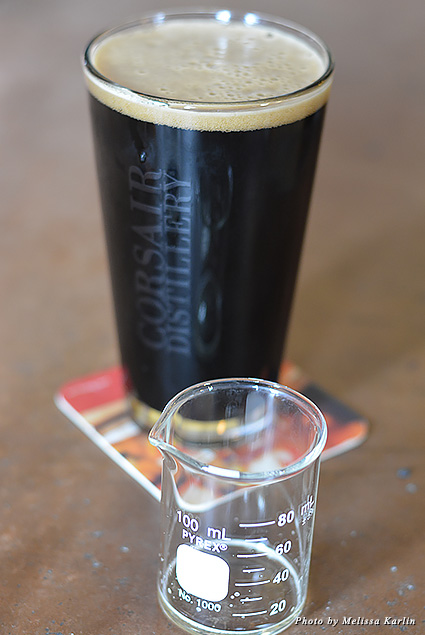 Glass of stout from Corsair Distillery